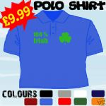 100 % IRISH ST PATRICKS DAY IRELAND T POLO SHIRT - 160535794882